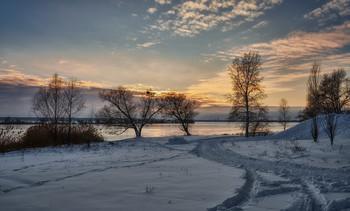 Первый закат в новом году. / Озеро Лиман Харьковская область. Январь 2019.