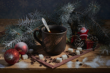 Новогодний кофе / натюрморт