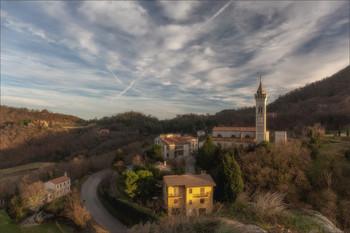 Castelnuovo / Местечко Кастелнуово,Эвганские холмы Италия.