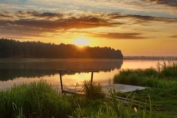 Такие пряные закаты на Руси... / Озеро Ломпадь, Калужская губерния, Русь