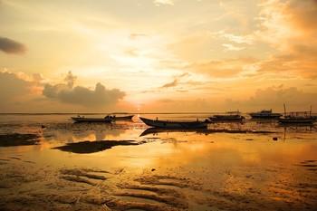 Оранжевое утро... / Утро на берегу океана