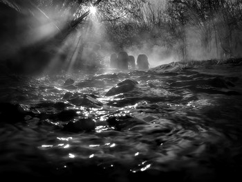 Тёмные воды заката.... / ***