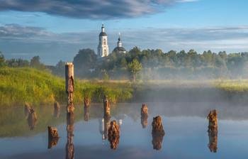 Рассвет на Медном озере / С.Филипповское, Владимирская область