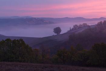 Вид на Торреньери с запада утром осенью 2017 / Вид на Торреньери с запада утром осенью 2017