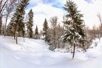 Зимний лес / Снято в одном из популярнейших парков Питера.