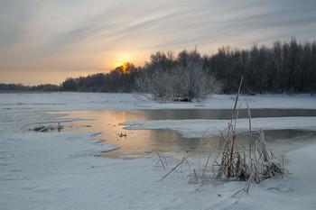 Январь / зима,январь,рассвет,река