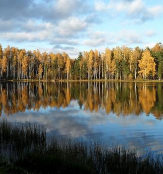 На закате.......... / Петербург-Юкки. Октябрь