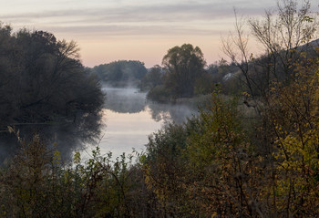Без названия / туман,река