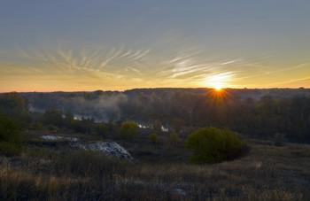 Рассвет / утро,река