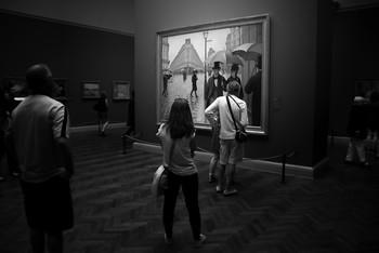 Дождливый день / В музее