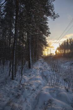 Без названия / Вечер в середине зимы