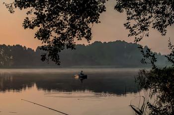 Без названия / Утро на озере