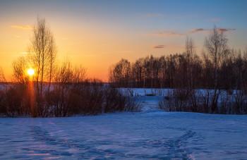 Зимний вечер / Пейзаж Беларуси