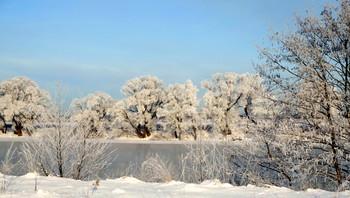 На Оке. / Зимний пейзаж Оки на юго-востоке Московской обл.