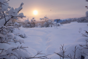 А снег идет.. / Заполярье.