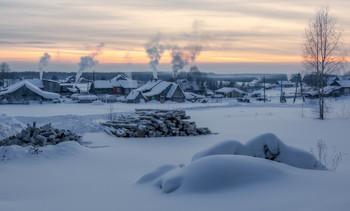 Зимний вечерок... / Старинное село Всехсвятское, Кировская область.