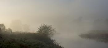 Утренняя прогулка / река,туман,утро