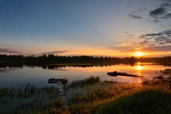 закат на реке Дубёнка / ***