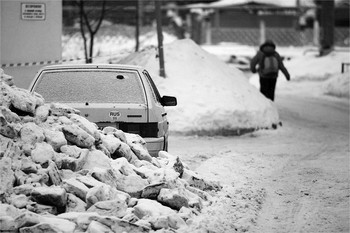 Соцгород. Февраль / Nikkor AF 180/2.8