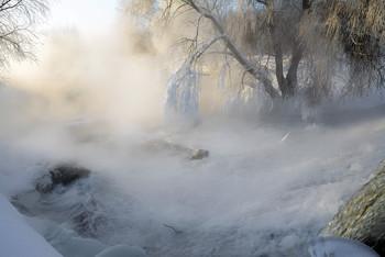 Здесь живут туманы. / река Листвянка