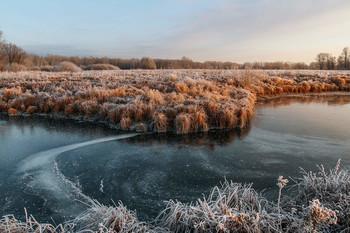 Без названия / мороз,иней,озеро