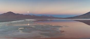 Перед рассветом / Аэросъемка (дрон). Лагуна Колорадо, Боливия