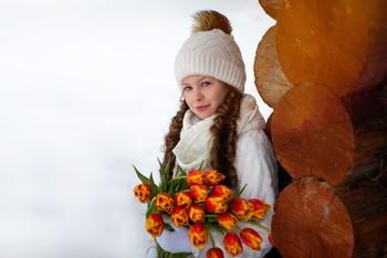 Весенние цветы / модель Юлиана Смирнова  причёска Галина Князева
