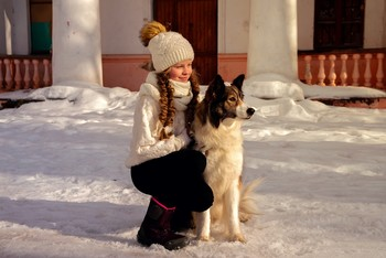На выгуле / модели Юлиана Смирнова и Лора причёска Галина Князева