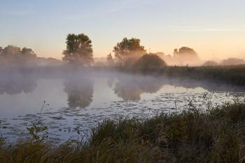 Туманным утром! / рассвет,озеро,туман