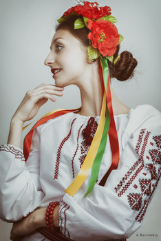 Portrait. Ukrainian folk type. Studio A. Krivitsky. / Portrait. Ukrainian folk type. Studio A. Krivitsky.