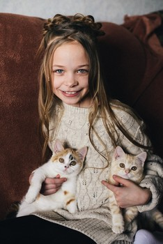 Безымянные котята / модель Ангелина Табакова причёска Галина Князева