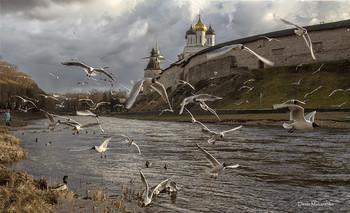 Россия начинается здесь. Былинный город / Псков.