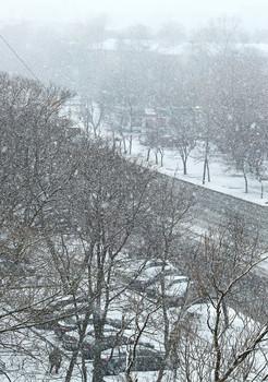 Опять снег на нашей улице... / Это последние дни марта...