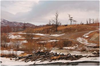 Призраки весны / Хакасия. Берег реки Белый Июс.