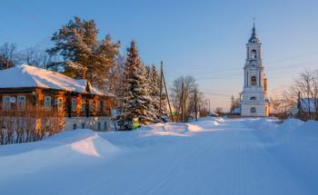 Сорвижи. / Утро в старинном село Сорвижи. Кировская область.