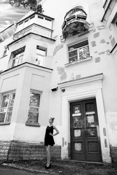 По-питерски / модель Даша Басина причёска Галина Князева