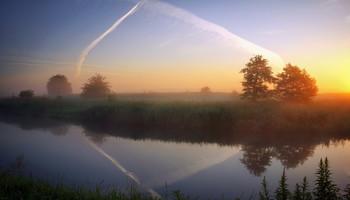 Утренняя геометрия / Рассвет у реки