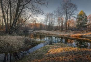Апрельским утром на реке.. / Нижегородская область, окрестности д. Завражное, река Кеза