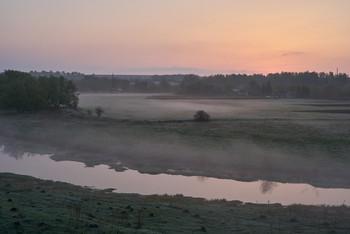 Рассвет. / Рассвет,туман,речка