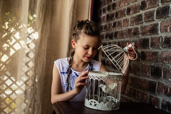 А где птичка? / модель Юлиана Смирнова причёска Галина Князева