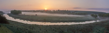 Без названия / рассвет,река,туман