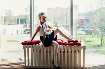 Студийная весна / модель Юлиана Смирнова причёска Галина Князева