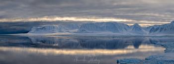 Вечерний свет II (Панорама) / Арктика