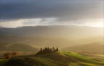 Belvedere sunrise / Пейзажи Тосканы