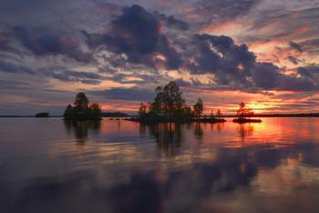 White night on lake Ala-Kitka, Finland / Приглашаю сюда в январе