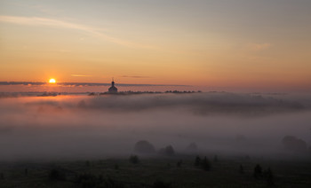 / лето, утро, туман
