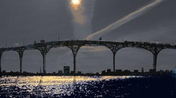 мост вдоль реки / б.о.