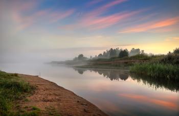 Про туман над рекой / Пейзаж Беларуси