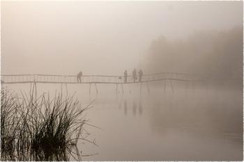 На рыбалке / Туманно утро на реке