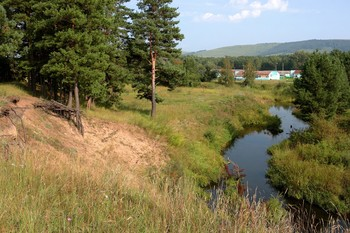 НА речке Лугавка / Речка Лугавка. Зона детских летних лагерей.